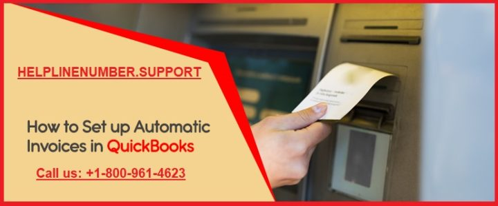 set up automatic invoices in QuickBooks